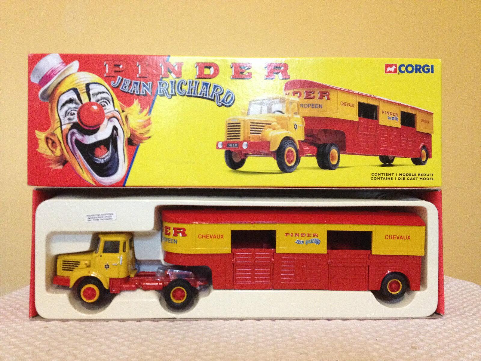 Corgi 70301-Pinder Jean Richard-Berliet TLR-Semi transporte caballos-MIB