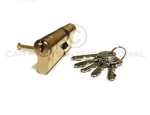 BRASS 40/55 Euro Lock Cylinder Hi-Secuirity 1-10 Locks MATCHING KEYS KEYED ALIKE