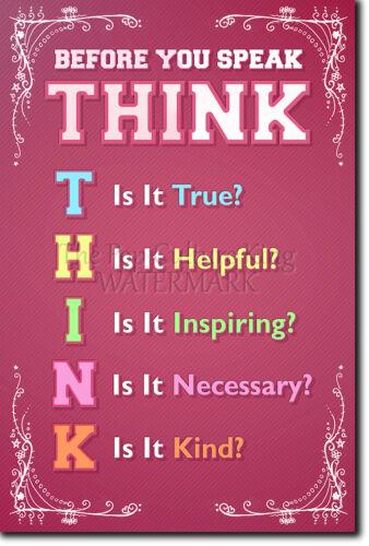 Piense antes de hablar-Poster-aprendizaje en el aula motivacionales Art Print
