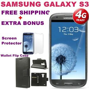 BRAND-NEW-Samsung-Galaxy-SIII-S3-i9305-4G-LTE-16GB-GREY-UNLOCKED-EXTRA-BONUS