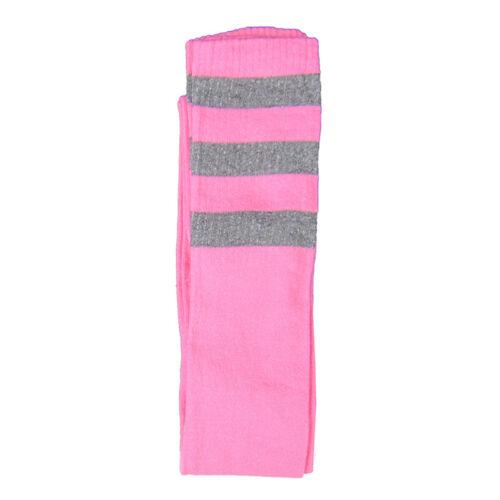 Cotton Blend Three Stripe Thigh High Socks Athletic Referee Socks