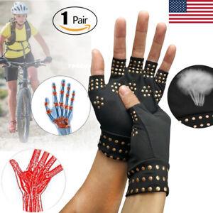 Copper-Arthritis-Gloves-Hands-Therapeutic-Compression-Brace-S-M-L-XL-XXL-FIt-USA