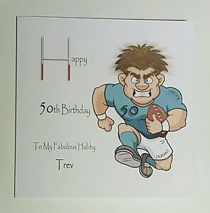 Image Is Loading Personalised 50th Birthday Card Husband Son Nephew Grandad