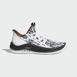 timeless design 7acd3 80564 Image is loading Adidas-Damian-Lillard-Dame-D-O-L-L-A-Black-White-Basketball -