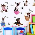 DIY Puppies DOGS Paw Prints Wall Decals Mural Art Kids Home Decor Vinyl Sticker