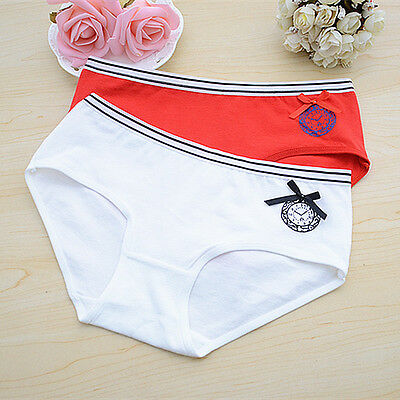Women's Lady Lovely Cotton Knickers Panties Lingerie Cute Briefs Underwear
