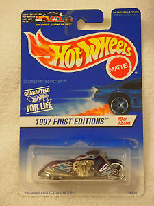 1997 Hot Wheels First Editions Scorchin/' Scooter Purple 519