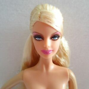 Image is loading NEW-Barbie-Mackie-Face-Doll-Blonde-Hair-Blue-