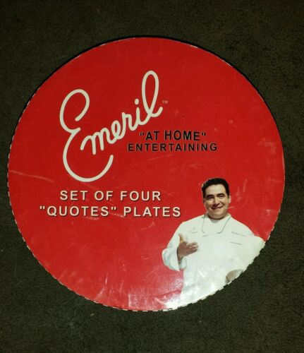 "Emeril Set of Four "" Quotes "" Plates"