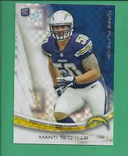*2013 Topps Platinum Rookie MANTI TE'O X factor no.120 chargers