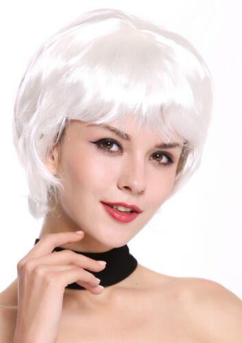 WIG ME UP Perücke Damen Karneval Halloween kurz dicht voll weiß DH1390-ZA68