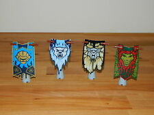 LEGO BANNERS flags x4 accessories fr minifigures LOTR Hobbit castle knight chima