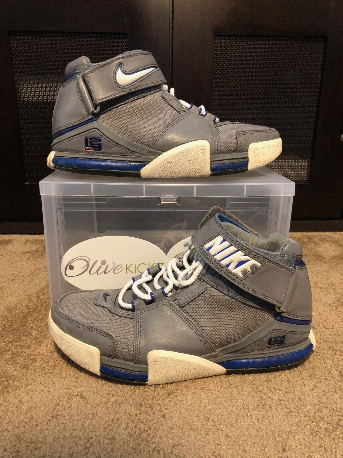 Lebron 2 Cool Grey All Star 309378-012 Size 8.5 Cracked USED