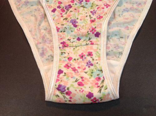 "Women Panties,Bikinis/""ILUSION/""Mexico Size XL Multicolor On Beige Floral Cotton B"