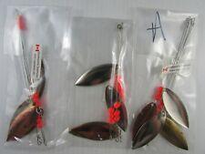 Lite Flashers #4 Willow Leaf Hmrd Brass Brand NEW Shasta Tackle Troll