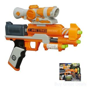 Image is loading Zombie-Nerf-Gun-Kids-Toy-Shooter-Dart-Bullets-
