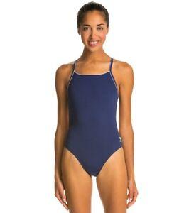 2b18a3fce0f6 Detalles de Nuevo con Etiqueta Speedo Mujer Sólido Endurance + Fina Tira  Azul Marino Bañador