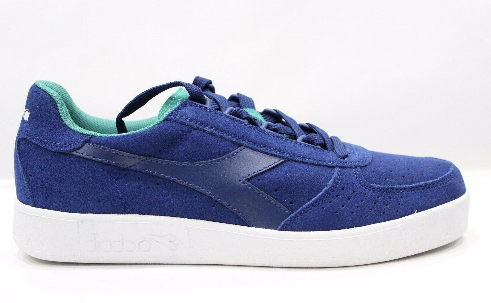Diadora B.Elite Suede Scarpe Shoes Sneakers bassa Unisex Blue Porcelain Green