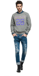 Sweatshirt Replay Grey Replay Medium Grey Size wqPRf