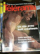 Télérama N° 2270 1993 Ousmane Sow Rachid Mimouni Claude Chabrol Lévi Strauss TV