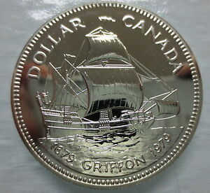 CANADA-1979-SPECIMEN-COMMEMORATIVE-SILVER-DOLLAR-GRIFFON-TRICENTENNIAL-COIN