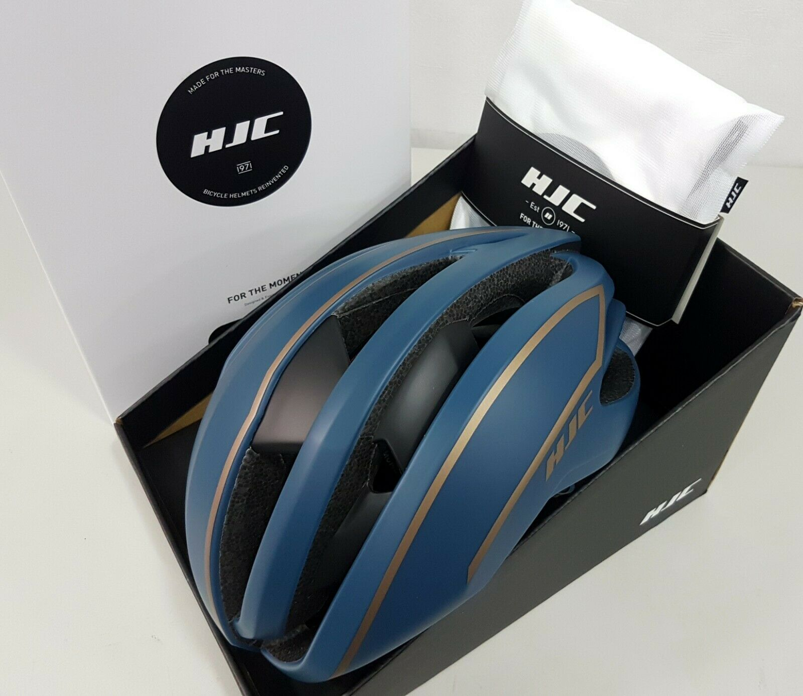 HJC Ibex Aerodynamic Ventilation Road Bike Helmet Matt Teal Bronze M 5559cm