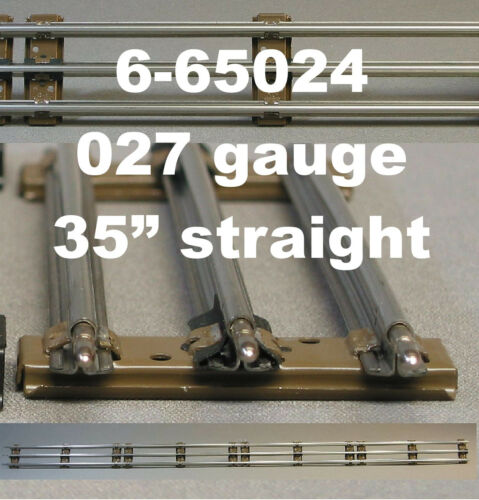 "LIONEL 027 LONG 35/"" STRAIGHT TRAIN TRACK 3 rail tubular steel inch 6-65024 NEW"