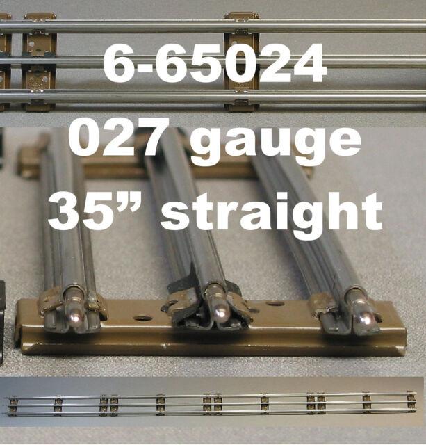 "LIONEL 027 LONG 35"" STRAIGHT TRAIN TRACK 3 rail tubular steel inch 6-65024 NEW"