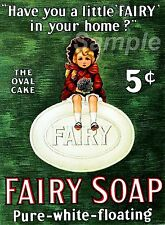 VINTAGE FAIRY SOAP ADVERTISING A2 POSTER PRINT