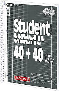 Brunnen Collegeblock  A4 80 Blatt   kariert liniert rautiert blanko 70g//m²