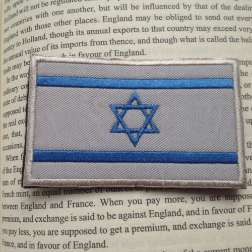 Israel Country Flag Israeli Army FLAG 3D EMBROIDERED HOOK LOOP PATCH BLUE