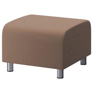 beige-coton-personnalise-revetement-Pour-Ikea-Klippan-REPOSE-PIEDS-Housse-canape