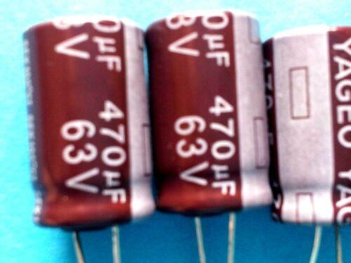 Elko 470µF//63V 105 ° C Print RM 5 mm 2 STK Ø 12,5mm x 21mm
