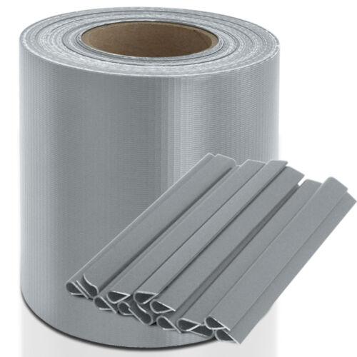 TopPreis 2,99€//m² PVC Sichtschutz Streifen Sichtschutz Doppelstabmatten /& Clips
