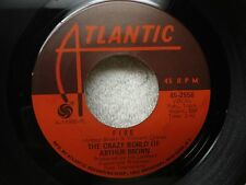 The Crazy World Of Arthur Brown 45 Fire / Rest Cure Clean 1968 Psych Rock Orig!