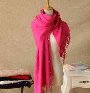Winter Tassle Wrap Stole Knitted Neck Warmers Warm Crochet Shawls Women Scarves