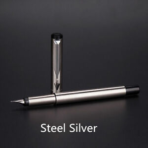 Perfect-Parker-Vector-Stainless-Steel-Color-Silver-0-5mm-Fine-Nib-Fountain-Pen