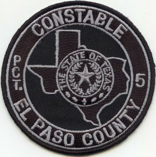 EL PASO COUNTY TEXAS TX ROUND SMALL Precinct 5 CONSTABLE sheriff police PATCH