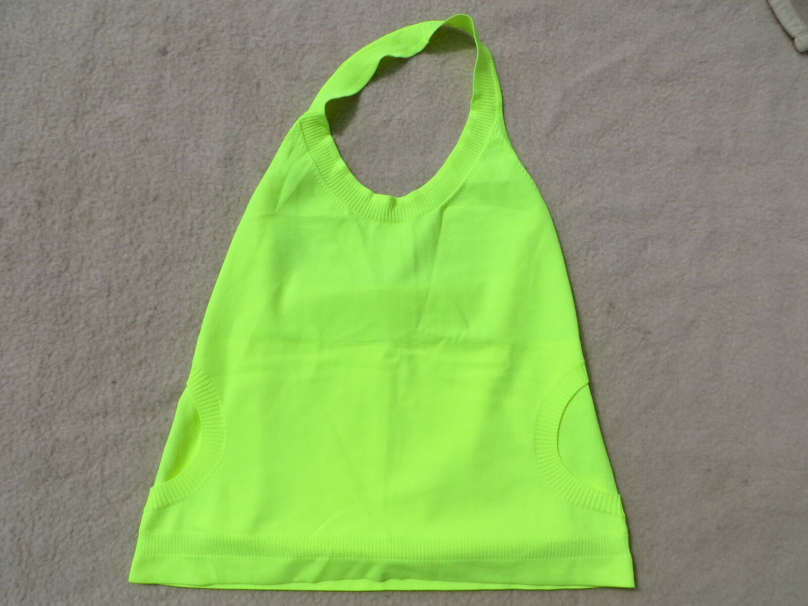 Escada Stricktop Top Shirt Gr. L Neu mit Etikett Neon Gelb 79230 Knitter Top