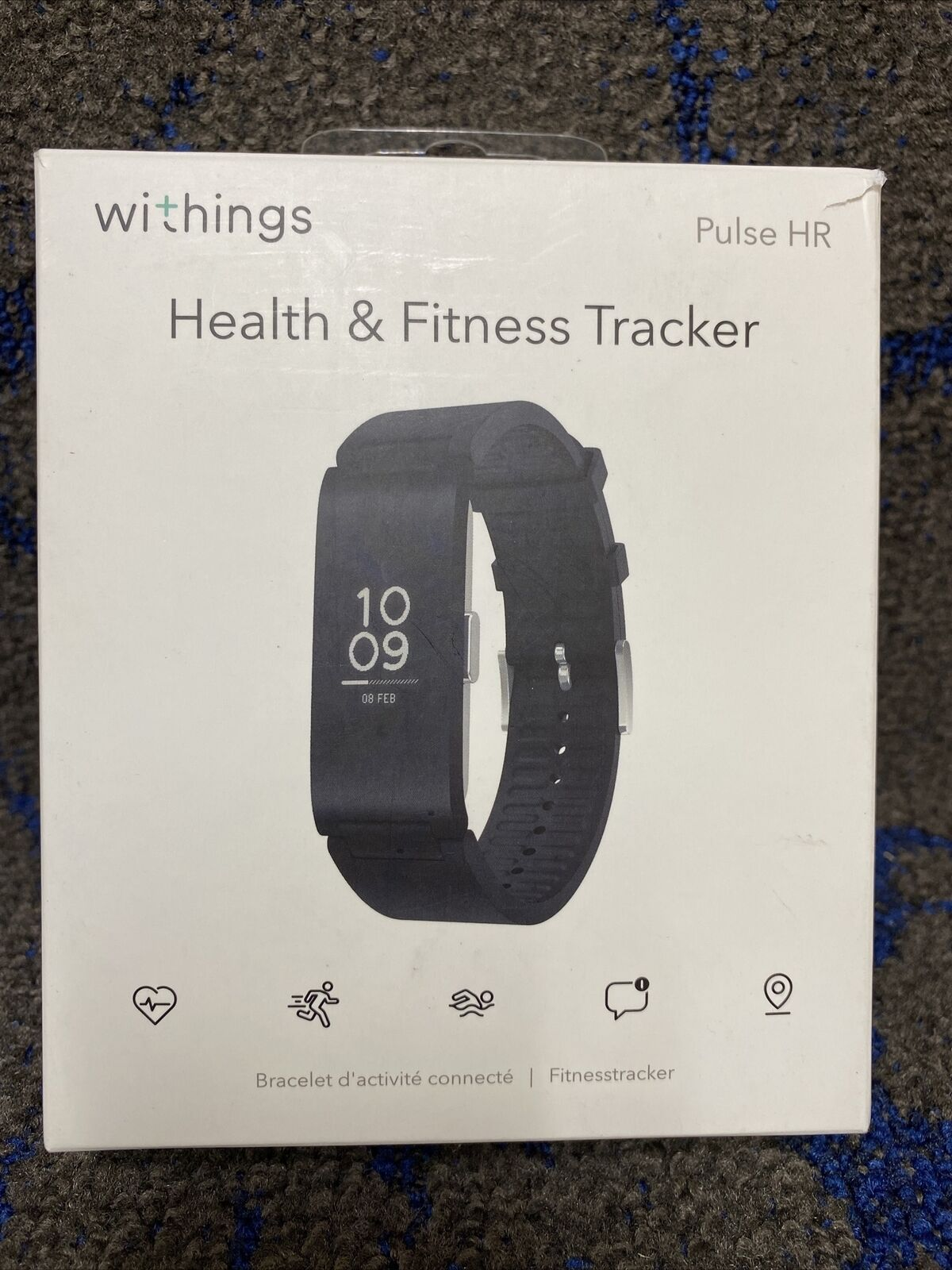 Withings Pulse HR - Water Resistant Health & Fitness Tracker with Heart Rate NEW