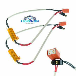 h7 50w canbus led load resistors wiring harness for drl headlights rh ebay co uk led autolamps load resistor wiring diagram led autolamps load resistor wiring diagram