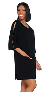 Beach French Terry Cover-Up with Slit Sleeve Detail