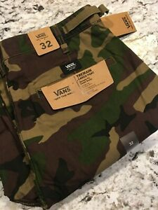 Vans-Depot-Cargo-Pants-Straight-Fit-Camouflage-Men-039-s-32-32