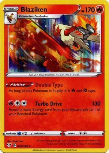 Pokemon Card Darkness Ablaze 24//189 024//189 Blaziken Holo Rare