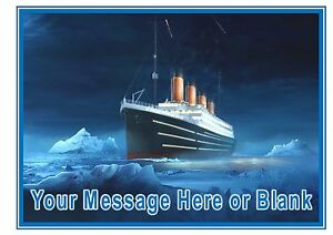 Image Is Loading Titanic Ship ND3 Boat Sea Birthday Personalised A4