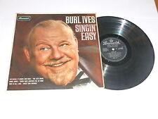 BURL IVES - Singin' Easy - Scarce 1963 UK 12-track vinyl LP