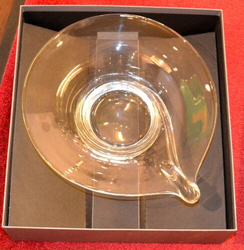 Glasschale, Rosenthal,Klarglas,optisch geblasen,im Original-Karton