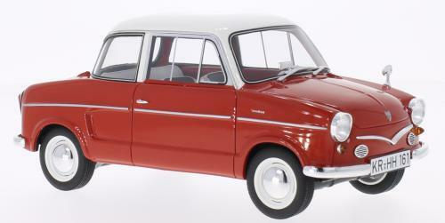 1950 NSU Prinz III Red with White Roof by BoS Models LE of 1000 1 18 Scale New