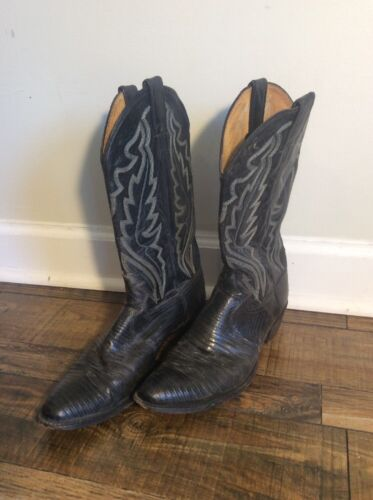 Sz Lizard In B Made Usa Black Cowboylaarzen Justin Heren 8313 Stijl 10 nOPZ80XNwk