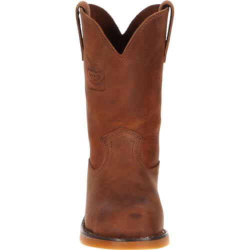 GEORGIA Carbo-Tec Boys Youth Big Kid Brown Leather Work Wellington Boots GB00049